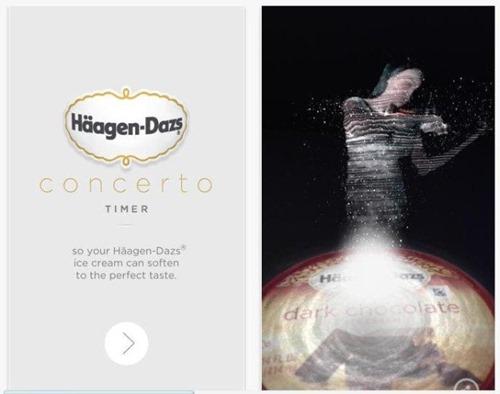 Haagen Dazs Concerto ingheta iOS Gadget