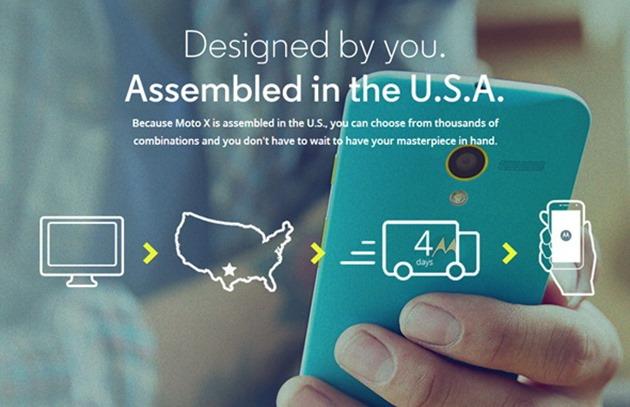 Moto X USA assembled in USA marketing