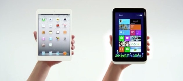 acer iconia w3 vs apple ipad mini comparatie