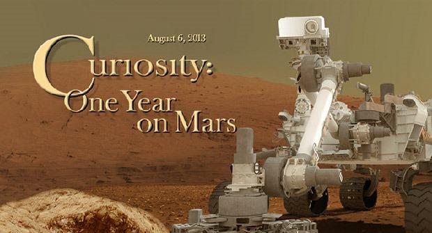Roverul Curiosity aniverseaza un an de cand este pe Marte [VIDEO]
