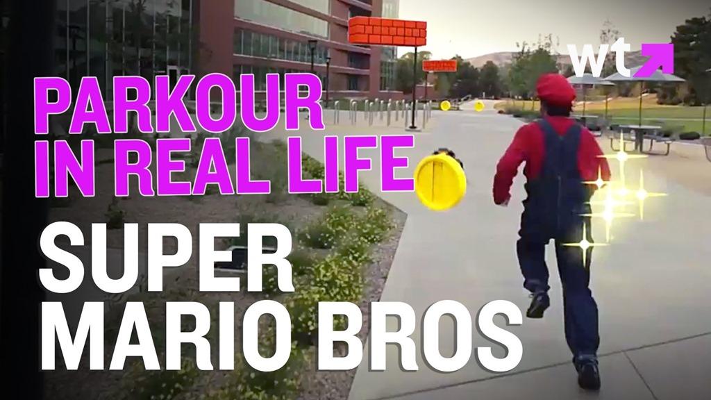 Super Mario Bros in realitate – varianta parkour [VIDEO]