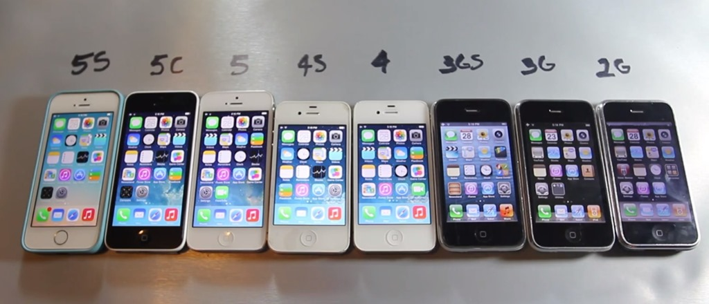 Test iPhone: 5S – 5C – 5 – 4S – 4 – 3GS – 3G – 2G [VIDEO]
