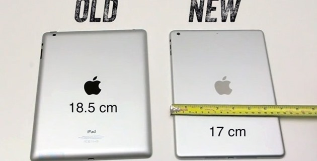 O comparatie intre iPad 4 si nelansatul iPad 5 [VIDEO]