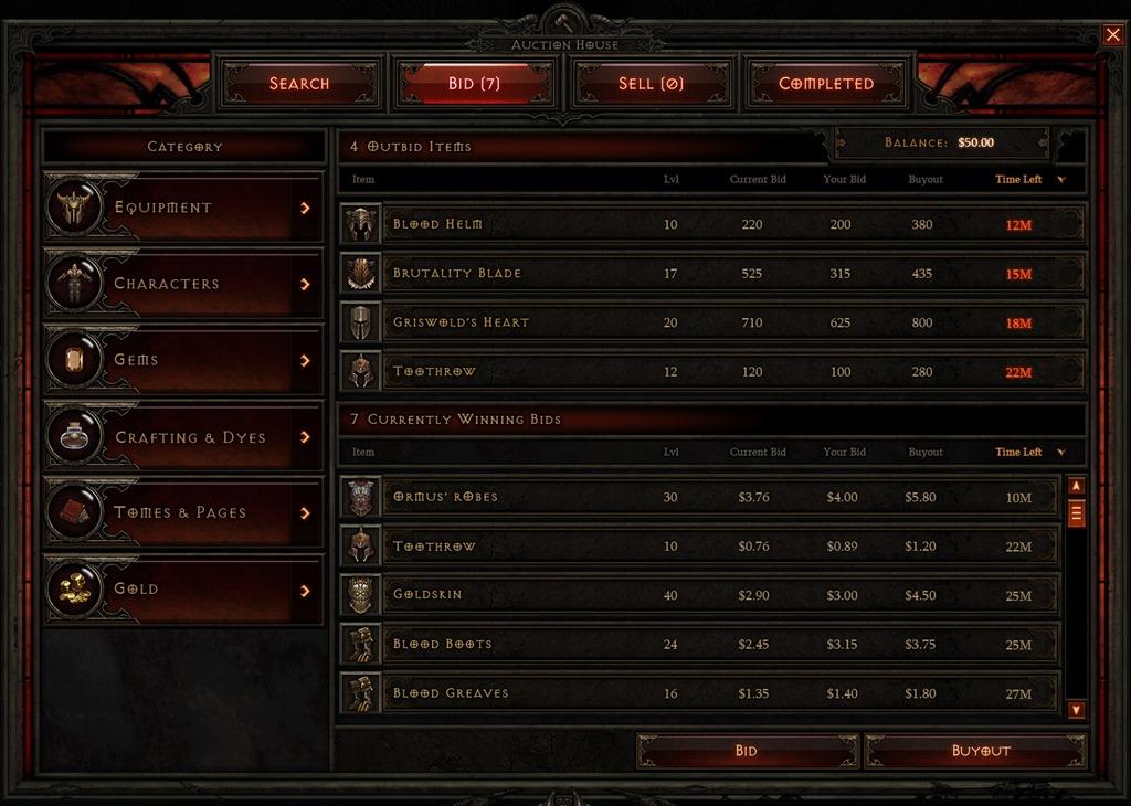 Blizzard renunta la un profit semnificativ prin inchiderea licitatiilor din Diablo 3