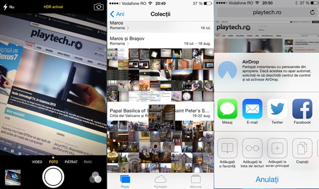 iOS 7 Camera Photos Airdrop