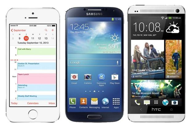 iphone5s Galaxy S4 HTC One comparatie performanta