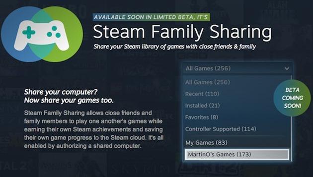 valve steam family friends sharing