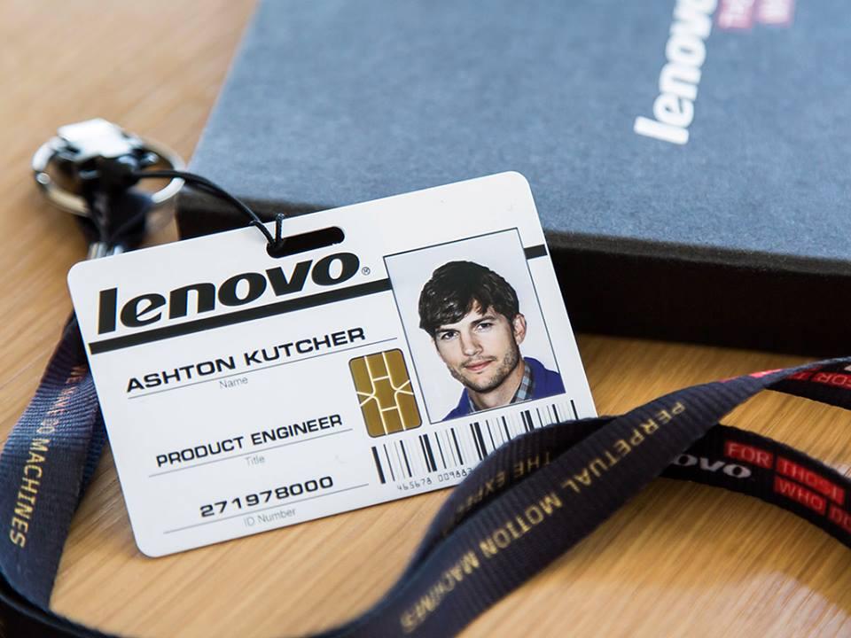 Ashton Kutcher imaginea Lenovo