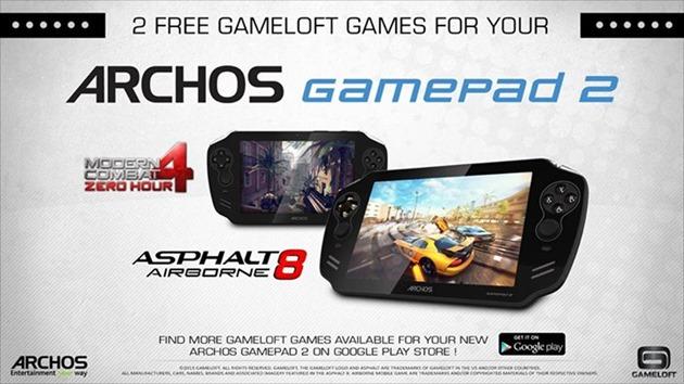 Gameloft Archos Gamepad 2 Asphalt 8 Modern Combat 4