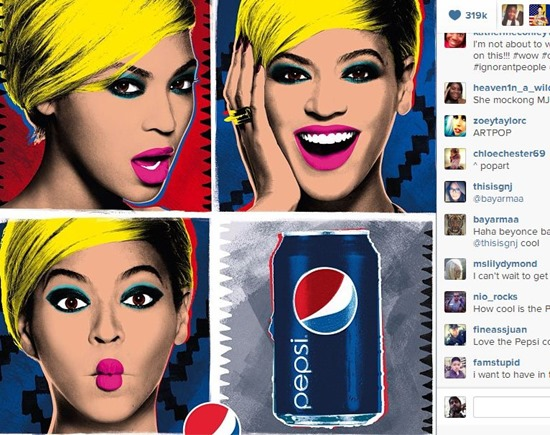 beyonce Instagram ads reclame foto video