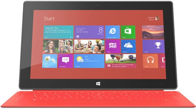 fail microsoft surface rt red