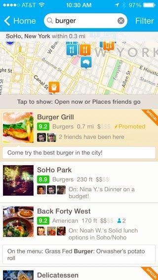 Au venit reclamele pe Foursquare