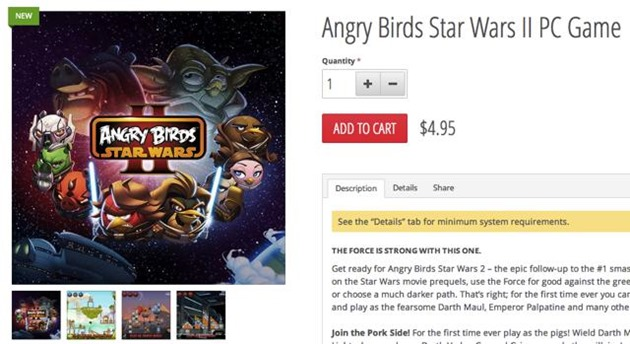 lansare rovi angry birds pc star wars