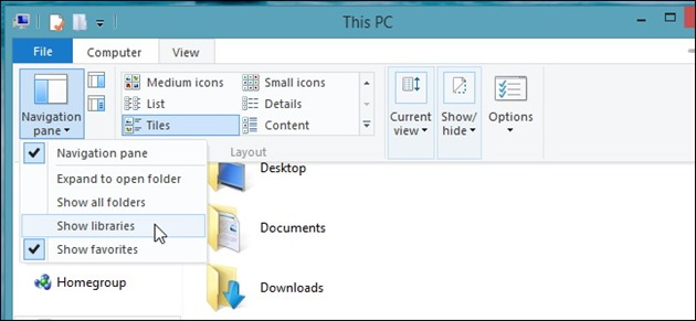 librarii enable libraries windows 8.1