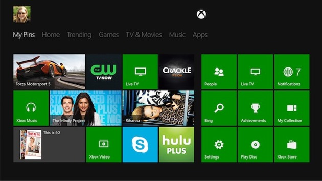 video microsoft xbox one dashboard