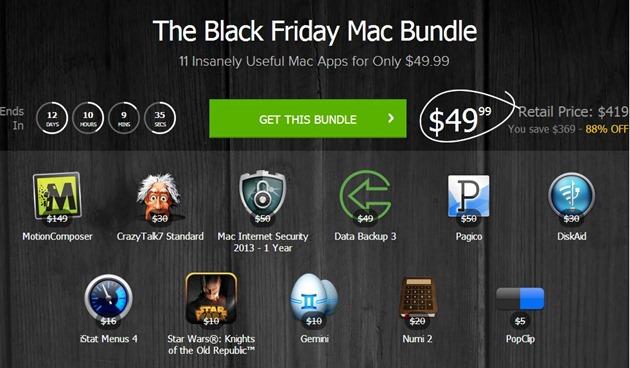 Black Friday OS X Mac Apps