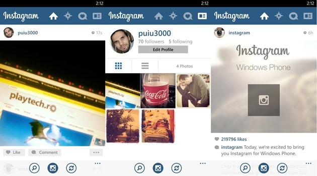 Instagram Microsoft Windows Phone WP8