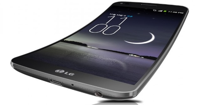 LG G Flex Android smartphone display flexibil