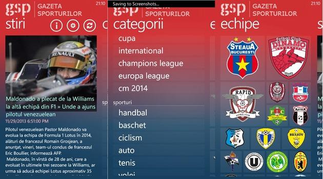 Microsoft Windows Phone Gazeta Sporturilor