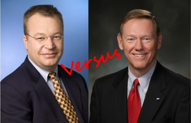Reuters Ballmer Microsoft Stephen Elop Nokia Alan Mulally Ford