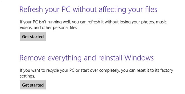 Windows 8 8.1 recovery refresh reset3