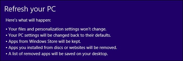 Windows 8 8.1 recovery refresh reset5