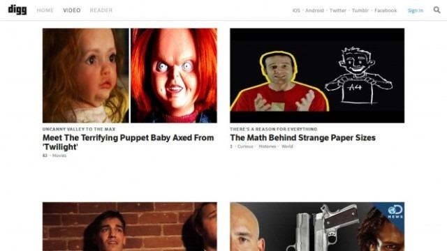 Digg Video este un site care încearcă să te corupă cu virale