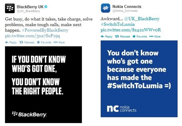 marketing nokia blackberry