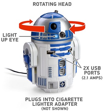star wars R2D2-USB-Car-Charger