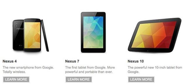 update android nexus-family