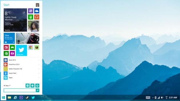 Microsoft windows 8.2 concept