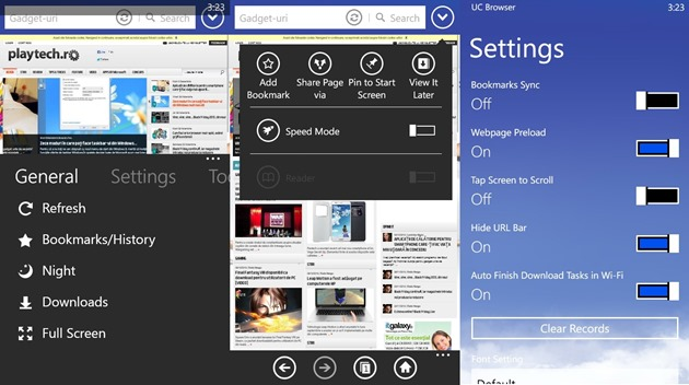 UC Browser Microsoft Internet Winodws Phone WP8