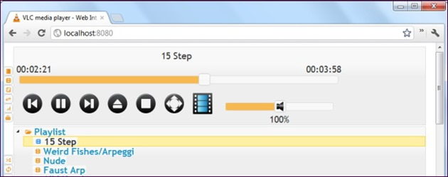 VLC web remote control
