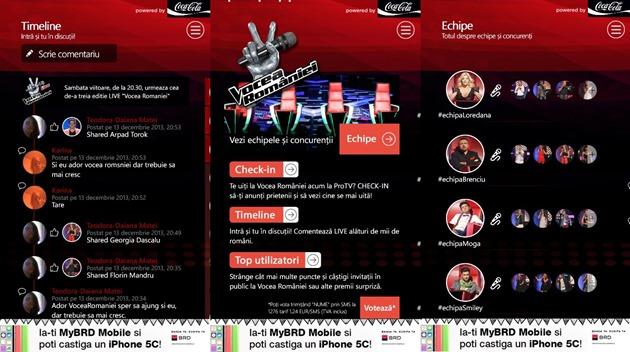 Vocea Romaniei aplicatie WP8