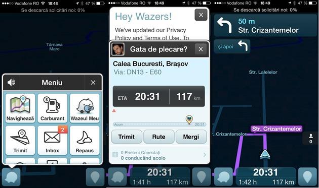 Aplicatie smartphone si tableta avertizare trafic Waze