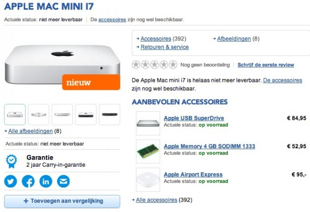 Apple Mac Mini belgia