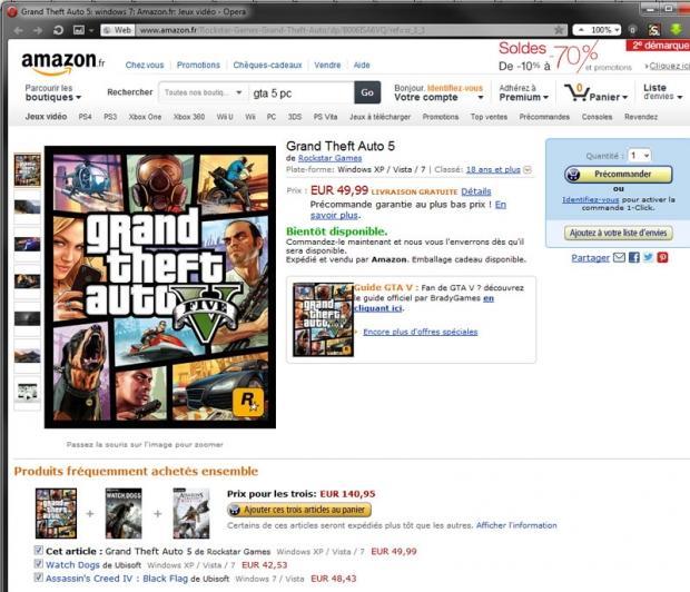 GTA 5 pentru PC apare din nou listat pe Amazon