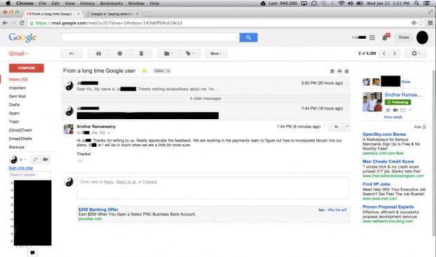 Google Bitcoin Email
