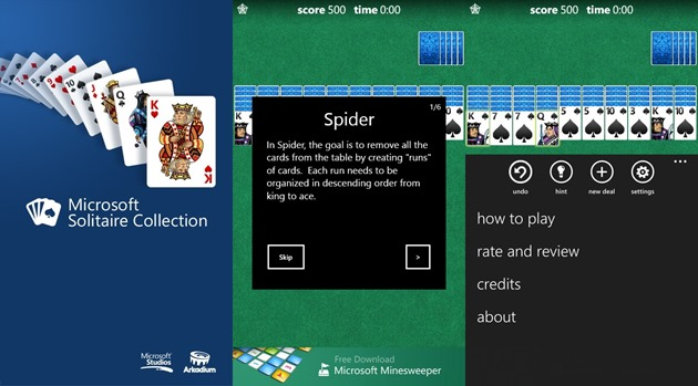 Microsoft Solitaire Collection Windows Phone WP8