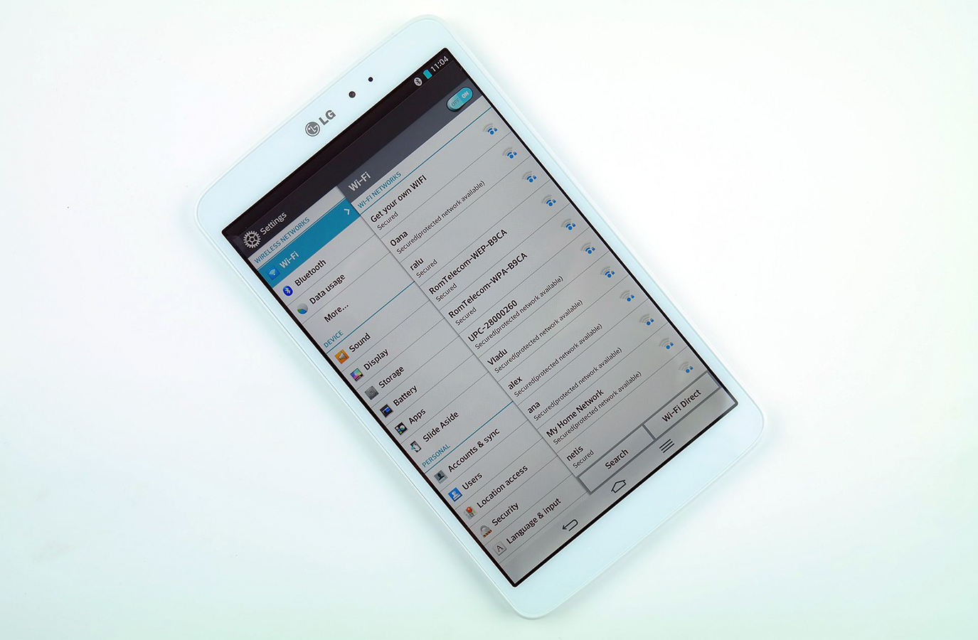 REVIEW LG GPad 8.3 setari software