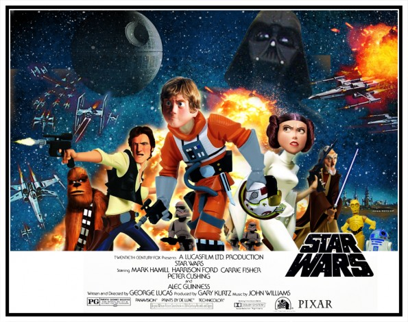 STAR WARS POSTER PIXAR