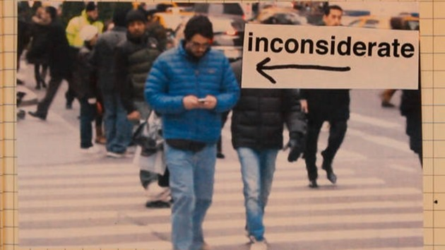 Video texting while walking