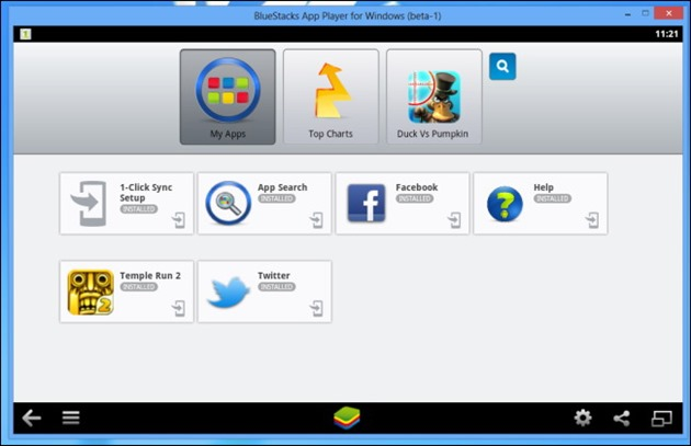 bluestacks-app-player-my-apps android on pc