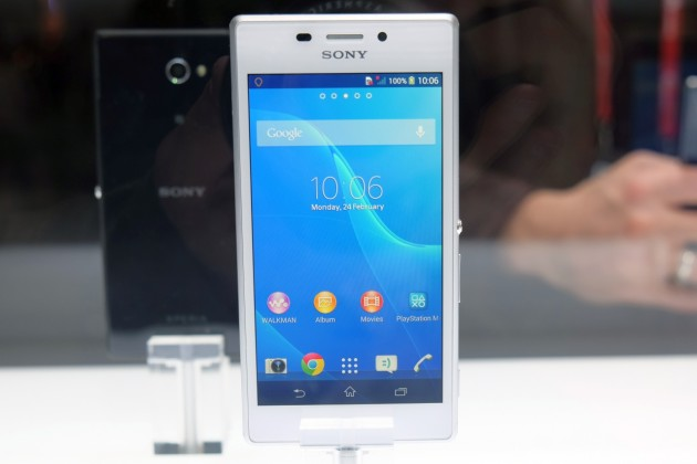 Sony Xperia M2 interfata