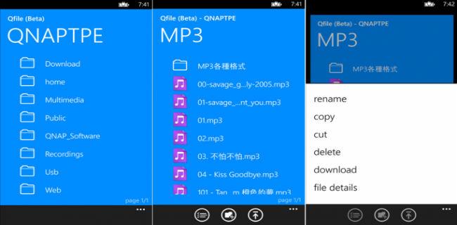 Aplicație QNAP gratuită pentru controlul sistemelor NAS, pentru Windows Phone 8