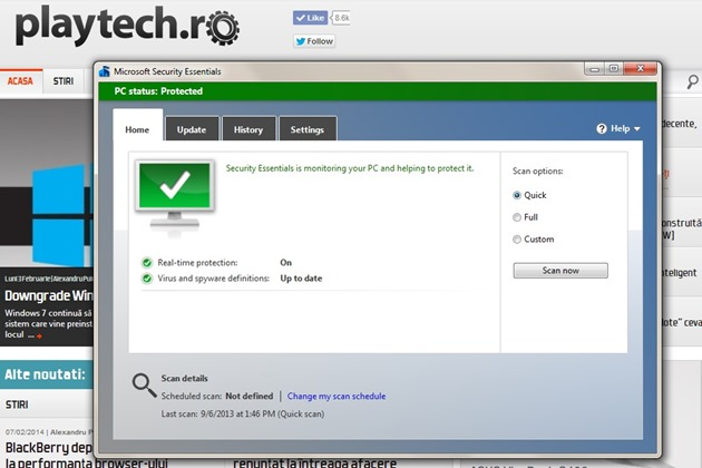 Windows Defender Microsoft Security Essentials