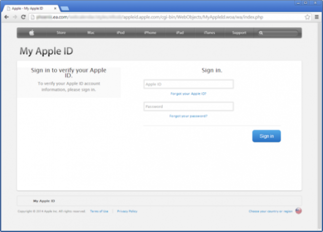 Apple ID Falsa