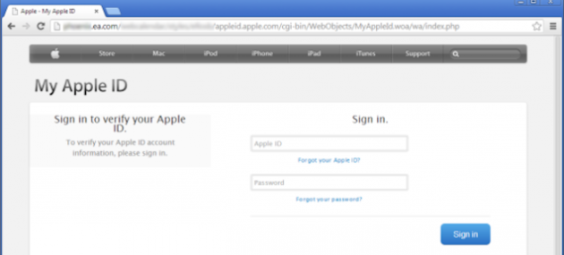 Apple ID Phishing