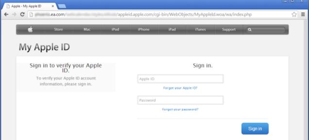 O nouă tentativă de phishing pentru utilizatori Apple