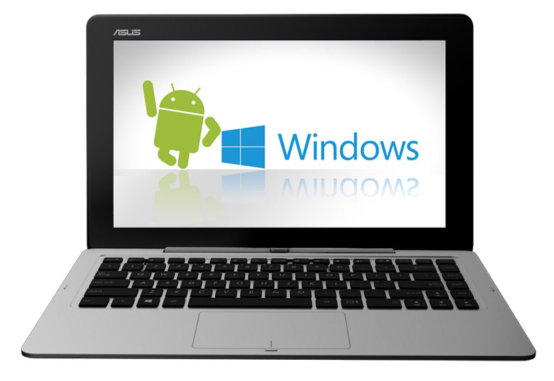 Dual boot windows android Asus transformer book trio